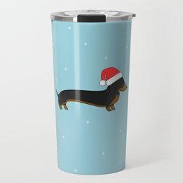 Santa Dachshund Travel Mug