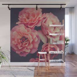 Roses in the night garden Wall Mural