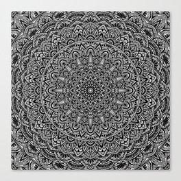 Zen Black and white Mandala Canvas Print