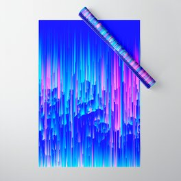Neon Rain - A Digital Abstract Wrapping Paper
