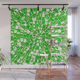 Circular Mosaic Green Wall Mural