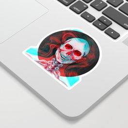 3D Skull Girl I Sticker