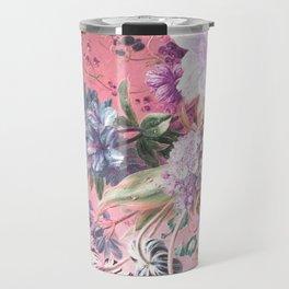Pink Misty Master Floral Travel Mug