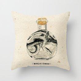Bottled Demons Throw Pillow