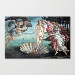 BIRTH OF VENUS - BOTTICELLI Canvas Print