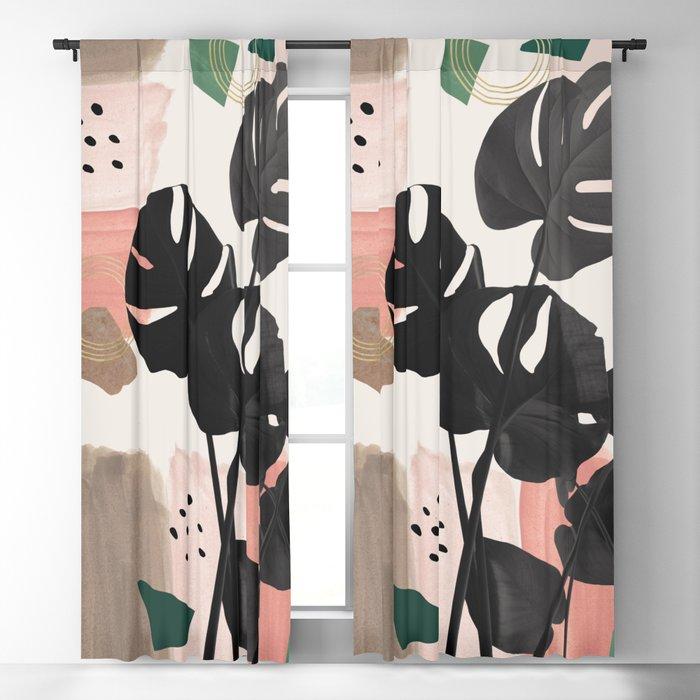 Monstera Summer Glam #2 #tropical #decor #art #society6 Blackout Curtain