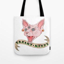 Freaky Kitty Tote Bag