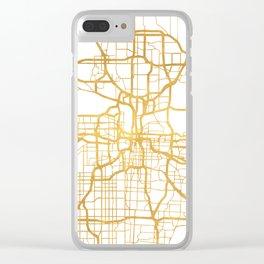 KANSAS CITY MISSOURI CITY STREET MAP ART Clear iPhone Case