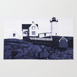 Navy Blue Lighthouse Rug