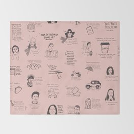 Gilmore Girls Quotes in Pink Throw Blanket