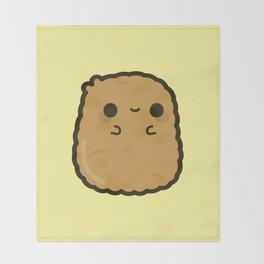 Cute chicken nugget Throw Blanket