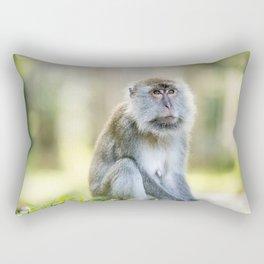 Crab Eating Macaque, Borneo Rectangular Pillow