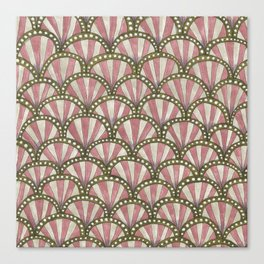 art deco scaley pattern Canvas Print