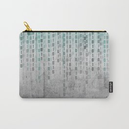 Concrete Binary Code Carry-All Pouch