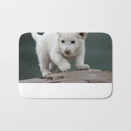 White lion cub Bath Mat
