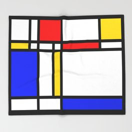 Mondrian Throw Blanket