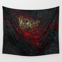 geology Wall Tapestries featuring volcano beautiful nature by Alexandr-Az