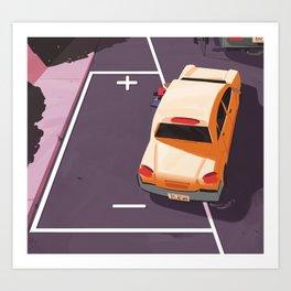 Battery parking Art Print