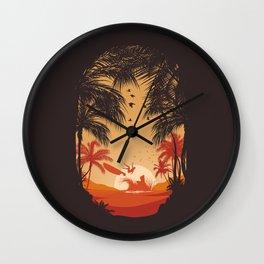 Summertime Madness Wall Clock
