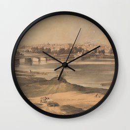 Vintage Pictorial View of Richmond VA (1853) Wall Clock