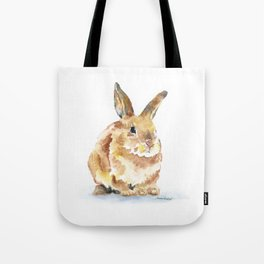 Bunny Rabbit Watercolor Painting - Woodland Animal Art Tote Bag