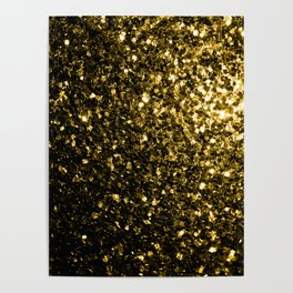Beautiful Yellow Gold sparkles Poster