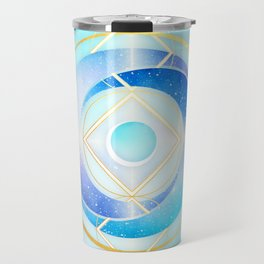 Floating Geometry :: Winter Swirl Travel Mug