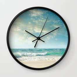 beach love tropical island paradise Wall Clock