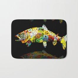 FATHER  LIKES FISH AND BOURBON POP ART Bath Mat