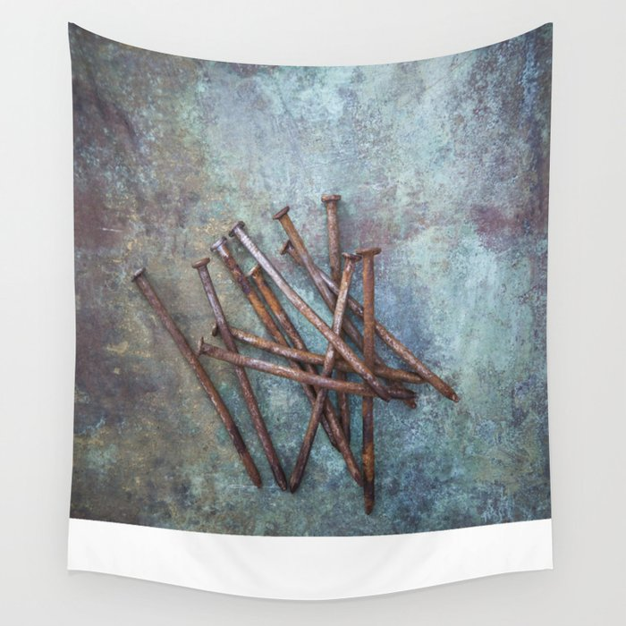 a bunch of nails Wall Tapestry