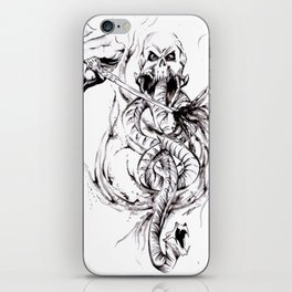 You Have Been Summoned Inktober Drawing iPhone Skin
