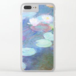 Claude Monet Water Lilies Pink 1899 Clear iPhone Case