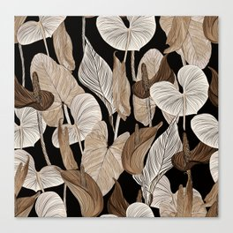 Lush lily - russet Canvas Print