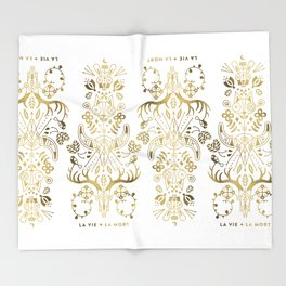 La Vie & La Mort – Gold Palette Throw Blanket