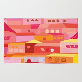 Houses Pattern Rug