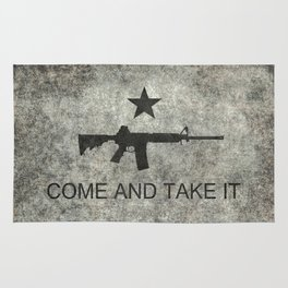 Come and Take it Flag with AR-15 Rug