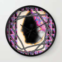 Kitsch over space Wall Clock