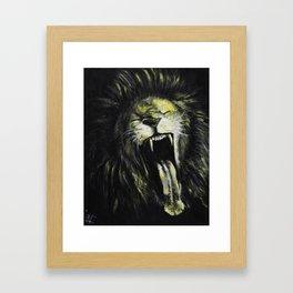 Untitled (Lion) Framed Art Print