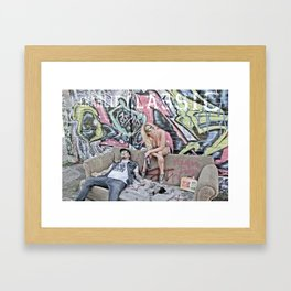 charlie classic hungover Framed Art Print