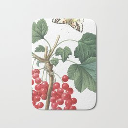 HIGHEST QUALITY botanical poster of Redcurrant Bath Mat