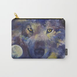 Grey Wolf Moon Carry-All Pouch