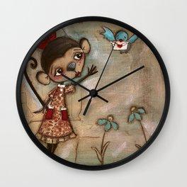 I Feel the Same  -  A Monkey, A Blue bird, and Love Wall Clock