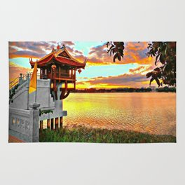 Shrine On The Lake. Rug