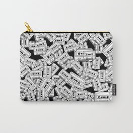 Audio Tape Pattern Carry-All Pouch