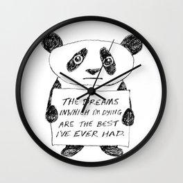 Depressed Panda Wall Clock