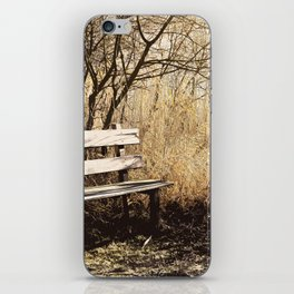 Park bench iPhone Skin