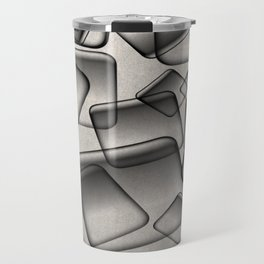 Square Bubbles - Abstract, geometry pattern Travel Mug