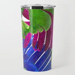 Colorful tropical leaves Travel Mug