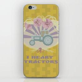 I Heart Tractors - mustard iPhone Skin