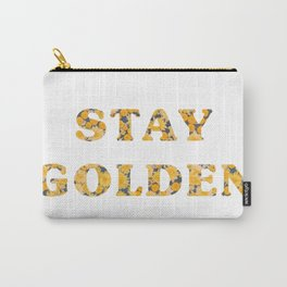 Stay Golden Sunflower Carry-All Pouch